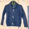 blaue Strickjacke Gr. 98