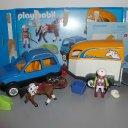 Playmobil 5223 PKW mit Pferdeanhänger + weiterer Anhänger