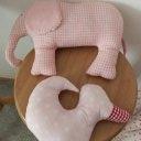 Kinderzimmer DEKO  ENTE   ELEFANT in rosa