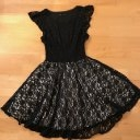 *** Festliches Kleid mit Spitze schwarz Gr.146/152 SISLEY ***