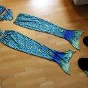 Meerjungfrauenset (2 Stück) mit Monoflosse, Schwanz und Bikini