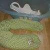 Babybadewanne mit Badesitz und Stillkissen
