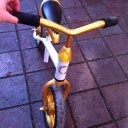 Biete Laufrad von Kettler weiß gold 10 Zoll