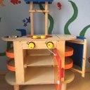 Spielküche Holz mit viel Zubehör