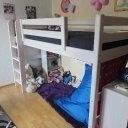 FLEXA Halbhohes Bett mit Rutsche + Teile für mittelhohes Bett usw