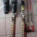 Kinderski 120cm, Stöcke und Stiefel