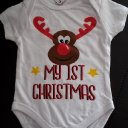 Weihnachts-Body  My 1st Christmas, Größe 56