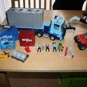 Playmobil 4447 Container Sattelzug und 5256 Stapler mit viel Zubehör / Wie NEU!