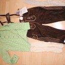 Lederhose, neu mit Etikett, mit Hemd und Strümpfen, Gr. 152