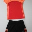 adidas Gr.140 Sport Hemd rot orange u Hose kurz schwarz