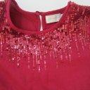 Creamie Gr. 152 Size 12 Kleid Pailletenkleid Empirekleid wein rot