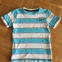 Jungen Shirt c a gestreift blau weiß 122 T-shirt Sommer