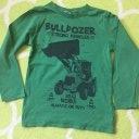 Jungen Langarmshirt 116 grün Traktor Bulldozer Blue Seven Shirt